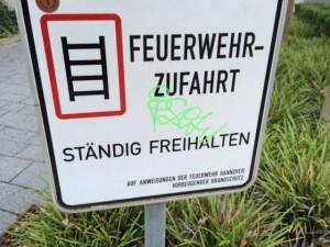 Graffiti vorher